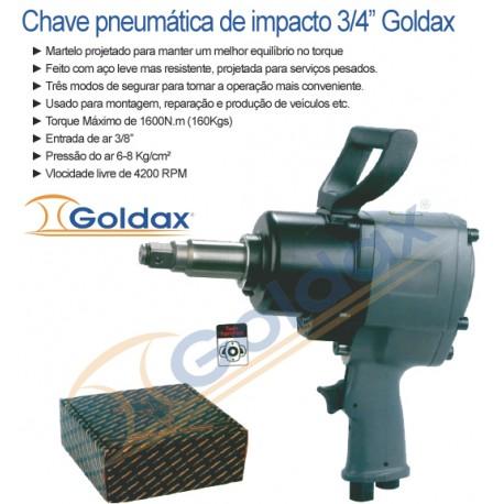"""Chave de impacto de 3/4"""" Goldax"""
