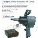 """CHAVE DE IMPACTO 3/4"""" 160kgf GOLDAX"""