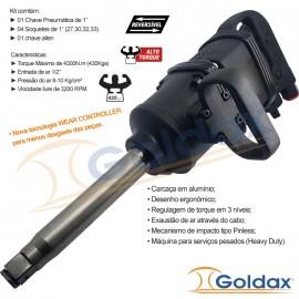 """CHAVE DE IMPACTO ( 1"""" ) ( 430Kg ) GOLDAX"""