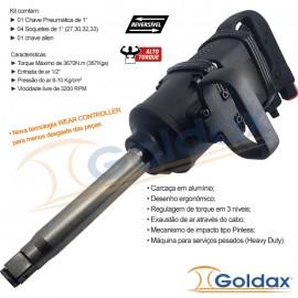 """CHAVE DE IMPACTO 1"""" 367Kgf GOLDAX"""