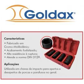 "JOGO SOQUETES DE 1/2"" LONGO 4pç GOLDAX"