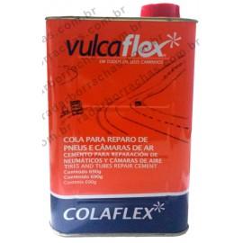 "COLA PRETA ""COLAFLEX"" P/ REPARO QUENTE 900ml VULCAFLEX"
